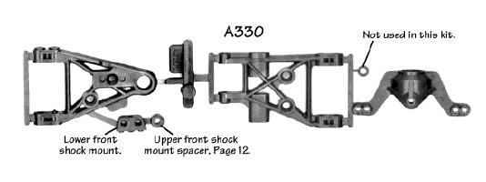 Pro3 Alum Arm Brace 3x30mm Silver HPI 72285 Vintage